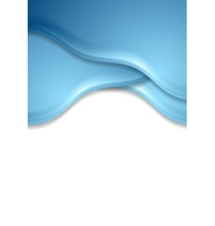 Blue wavy abstract corporate flyer template vector