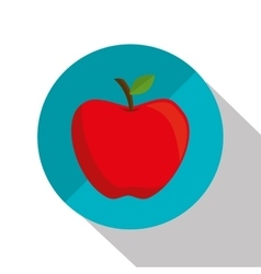 Cartoon apple school design graphic vector
