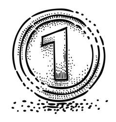 Cartoon image of coin icon money symbol vector