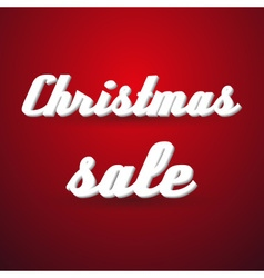 Christmas holidays sale modern paper like text vector