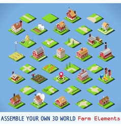 City 03 complete set isometric vector