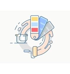 Color palette line design vector image vector image