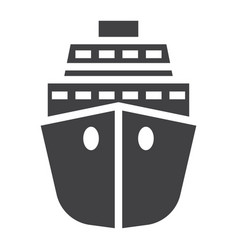 cruise solid icon travel and tourism vector image vector image
