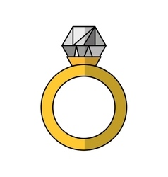 Diamond ring wedding icon vector