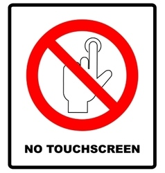 Do Not Touch sticker warning banner no vector image vector image