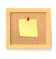 Empty notice wooden board on white background vector