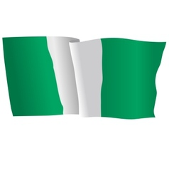 flag of Nigeria vector image