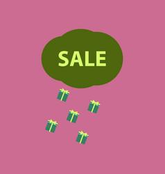 flat icon of sale gift rain vector image