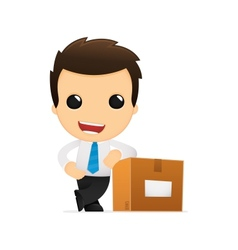 funny cartoon office worker vector image vector image