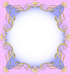 Golden ornamental frame vector