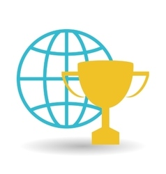 Graphic design of trophy vector image