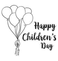 Happy children day design collection vector