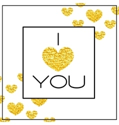 Happy valentines day card word i love you and vector