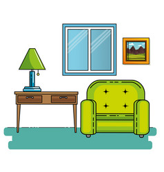 home furniture design vector image vector image