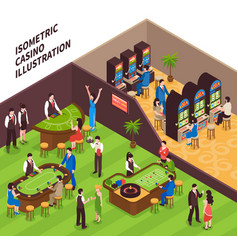 Isometric casino vector