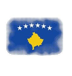 kosovo flag halftone vector image vector image
