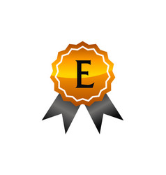 Logo quality letter e vector