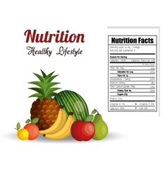 Nutrition healthy food isolated icon vector