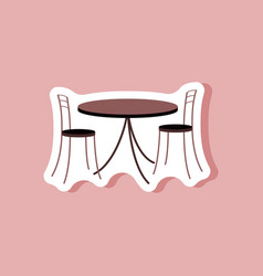 Paper sticker on stylish background table and vector