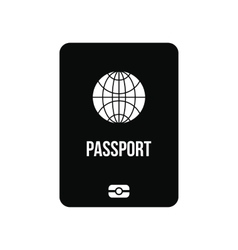 Passport black simple icon vector image