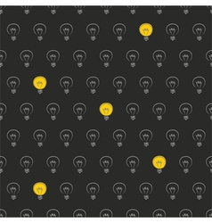 Seamless pattern texture background light bulbs vector image