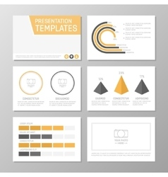 Set of gray and orange template for multipurpose vector