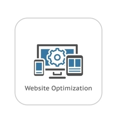 Website Optimization Icon Flat Design vector image vector image