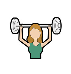 Woman with dumbbell to do exercise vector
