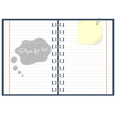 Paper notebook vector