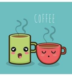 cartoon coffee cup mug hot design vector image