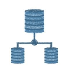Drawing data center information digital vector