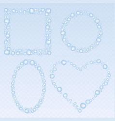 Soap bubbles frames set vector