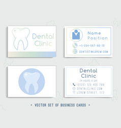 dental business card template design vector image