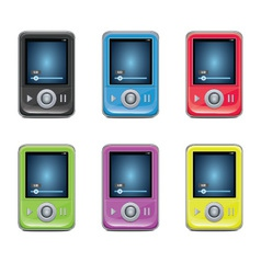 Mp3 player set vector