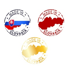 Made in slovakia stamp vector