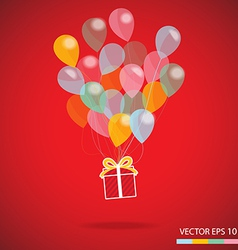 gift box carnival vector image