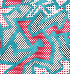 Cloth geometric seamless pattern with grunge vector
