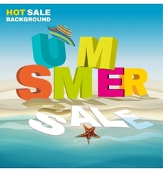 Seasonal summer sale poster vector
