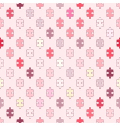 Seamless background with puzzle vector