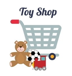 Toy shop design vector