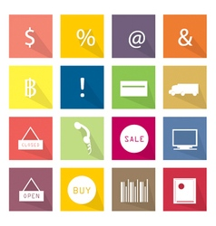 Collection of 16 business item icons banner vector