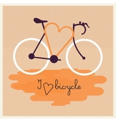 Bicycle silhouette with graphic message vector