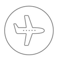 Flying airplane line icon vector