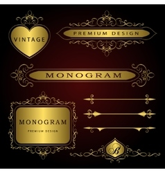Monogram design elements and page decoration - vector