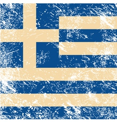 Greece flag retro vector image