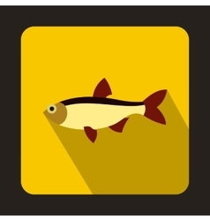 Rudd fish icon in flat style vector