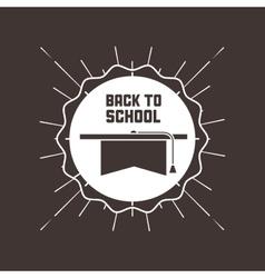 Graduation cap icon back to school design vector