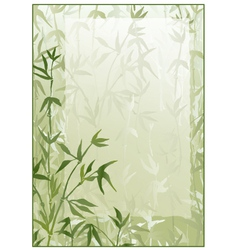 Bamboo forest frame vector image vector image
