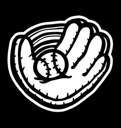 Baseball glove vector