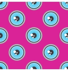 Blue eyes patch seamless pattern vector image vector image